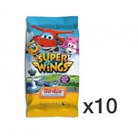 Toallitas infantiles Super Wings 20 uds. Caja 10 paquetes