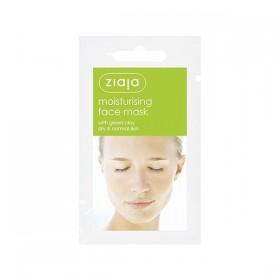 Ziaja Mascarilla facial hidratante con arcilla verde 20 uds
