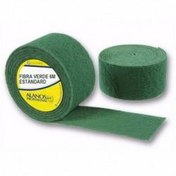 Rollo de estropajo fibra verde STANDARD 6 metros