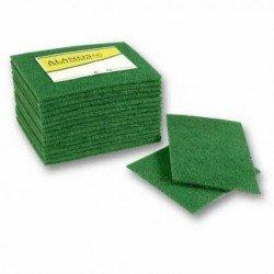 Estropajo de fibra verde cortada extra. Caja 60 uds