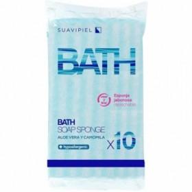 Suavipiel Esponjas Bath jabonosas desechables. Caja 120 uds