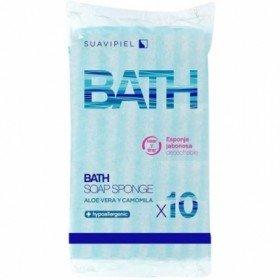 Suavipiel Esponjas Bath jabonosas desechables 10 uds