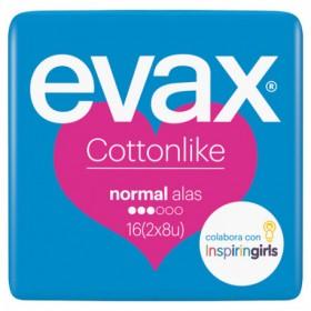 Evax Compresas normal alas 2x8 uds