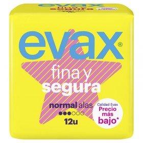 Evax Fina y Segura compresas normal alas 12 uds