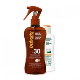 Babaria Spray aceite protector solar SPF30 coco + Aftersun Aloe Vera