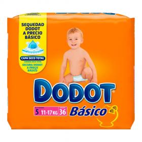 Dodot Básico talla 5 - 36 Pañales para bebés 11-17 kg.