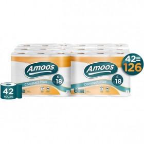 Amoos Papel higiénico Compact Plus. Paquete de 42 rollos