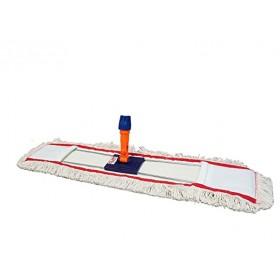 Mopa plana industrial algodón 80 cms y bastidor