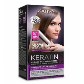Kativa Kit Alisado brasileño en casa Keratin Xpress