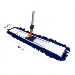 Mopa plana industrial acrílica 80 cms bastidor y mango 150 cm