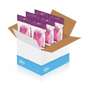 Esponjas de baño en flor Sense. Caja 6 uds