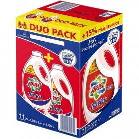 Ariel detergente de lavadora básico 3.025 litros. Caja de 2 uds