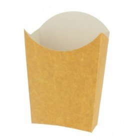 Envase para patatas fritas. Petaca para take away. Caja 50 uds
