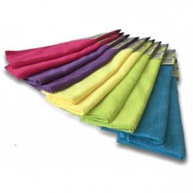 Bayeta de microfibra multicolores. Pack 10 uds