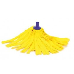 Fregona superabsorbente de tiras amarillas