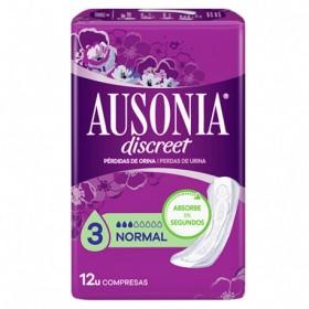 Ausonia compresas Discreet normal sin alas 12 uds
