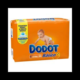 Dodot Básico Talla 4 - 44 Pañales para bebés 8-18 kg