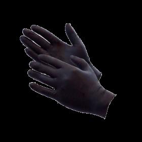 Guantes desechables de nitrilo negro sin polvo