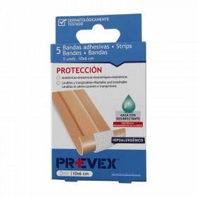 Prevex Bandas adhesivas con desinfectante en color piel 5 uds