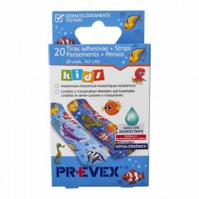Tiritas adhesivas infantiles con desinfectante. Paquete de 20 unidades