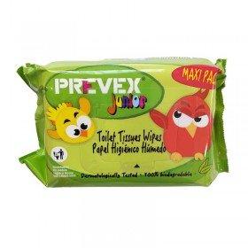 Prevex Toallitas desechables infantiles biodegradables en WC. Paquete 100 uds